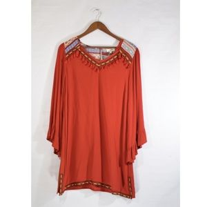 NWT Umgee Anders BoHo burnt orange dress